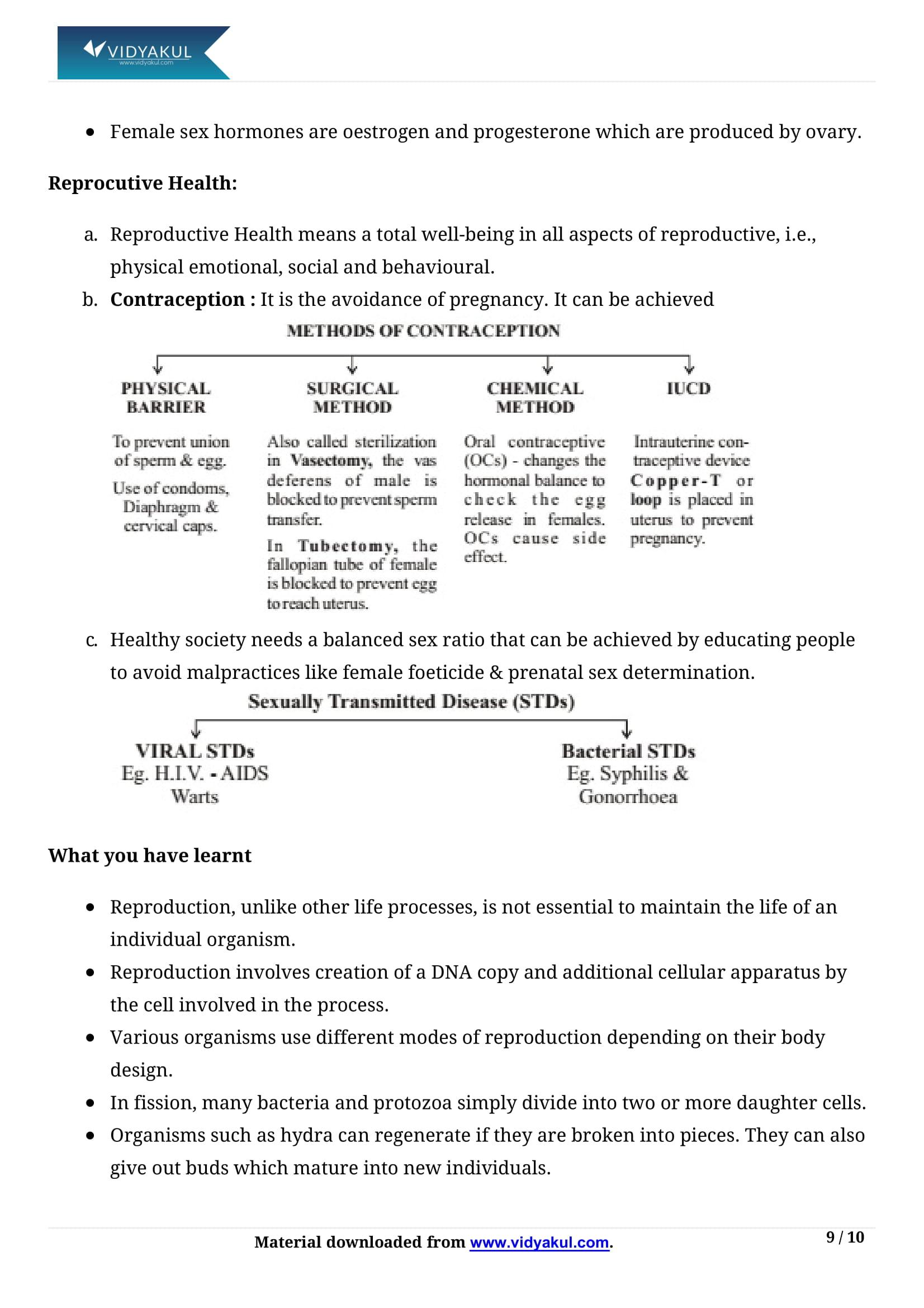 How do Organisms Reproduce? Class 10 Notes   Vidyakul
