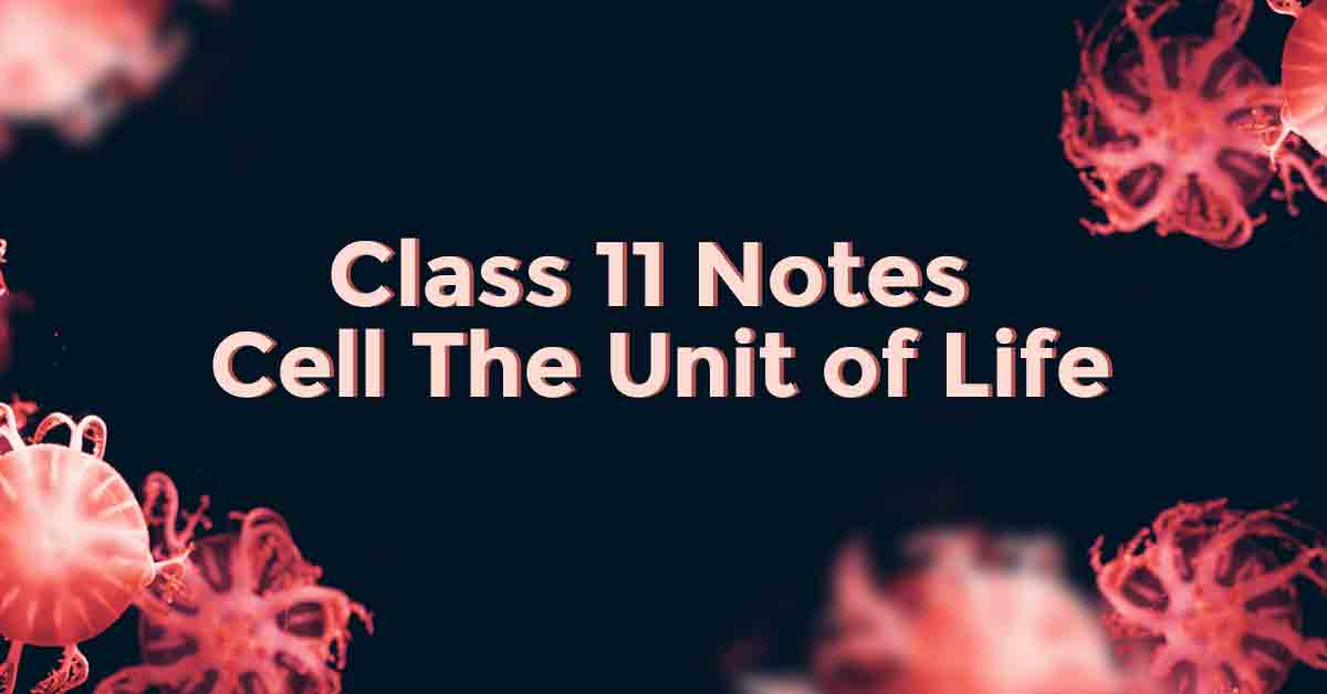 Cell-the Unit of Life Class 11 Notes
