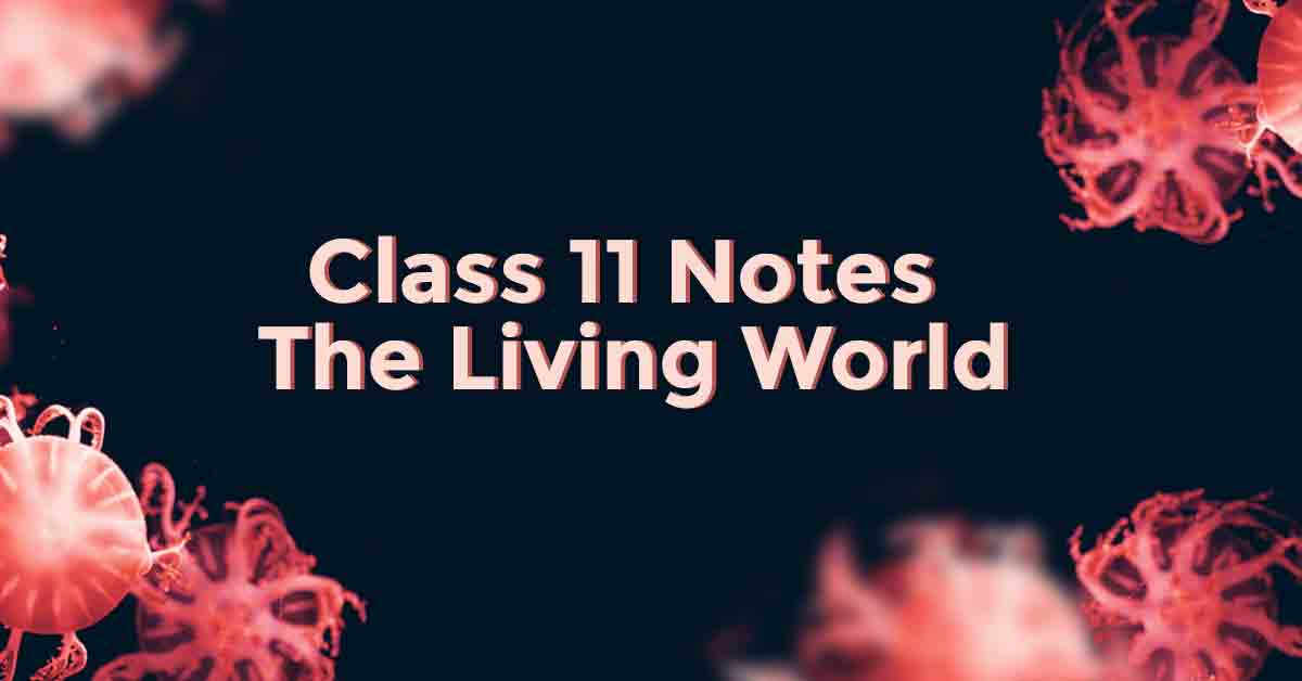 The Living World Class 11 Notes