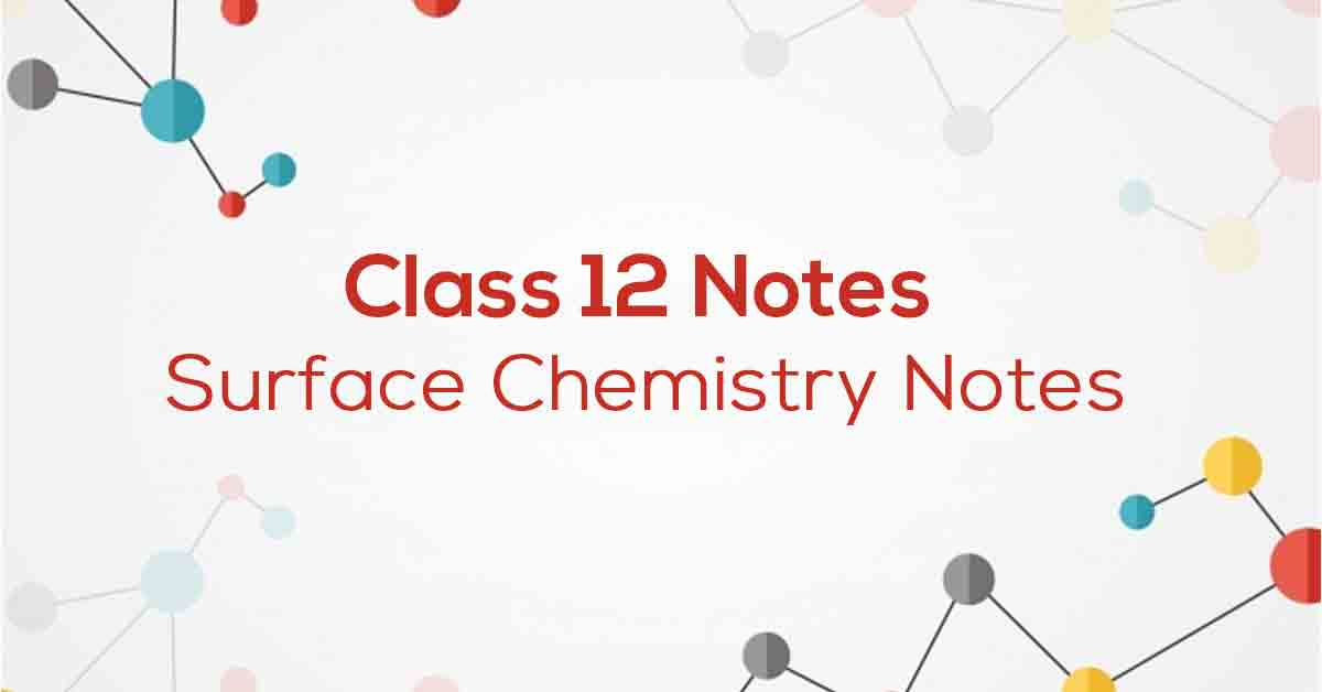 Surface Chemistry Class 12 Notes