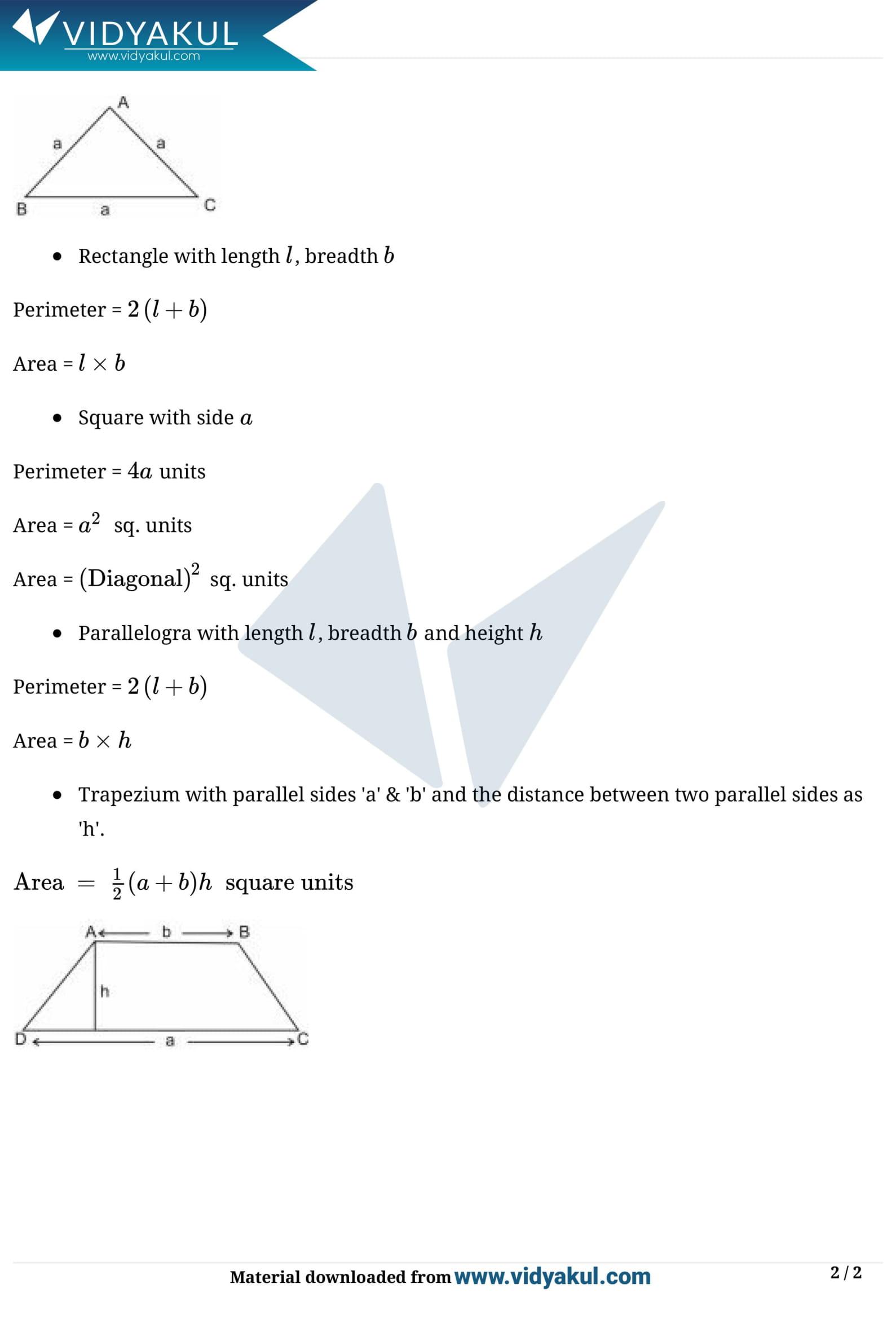 Heron's Formula Class 9 Notes | Vidyakul
