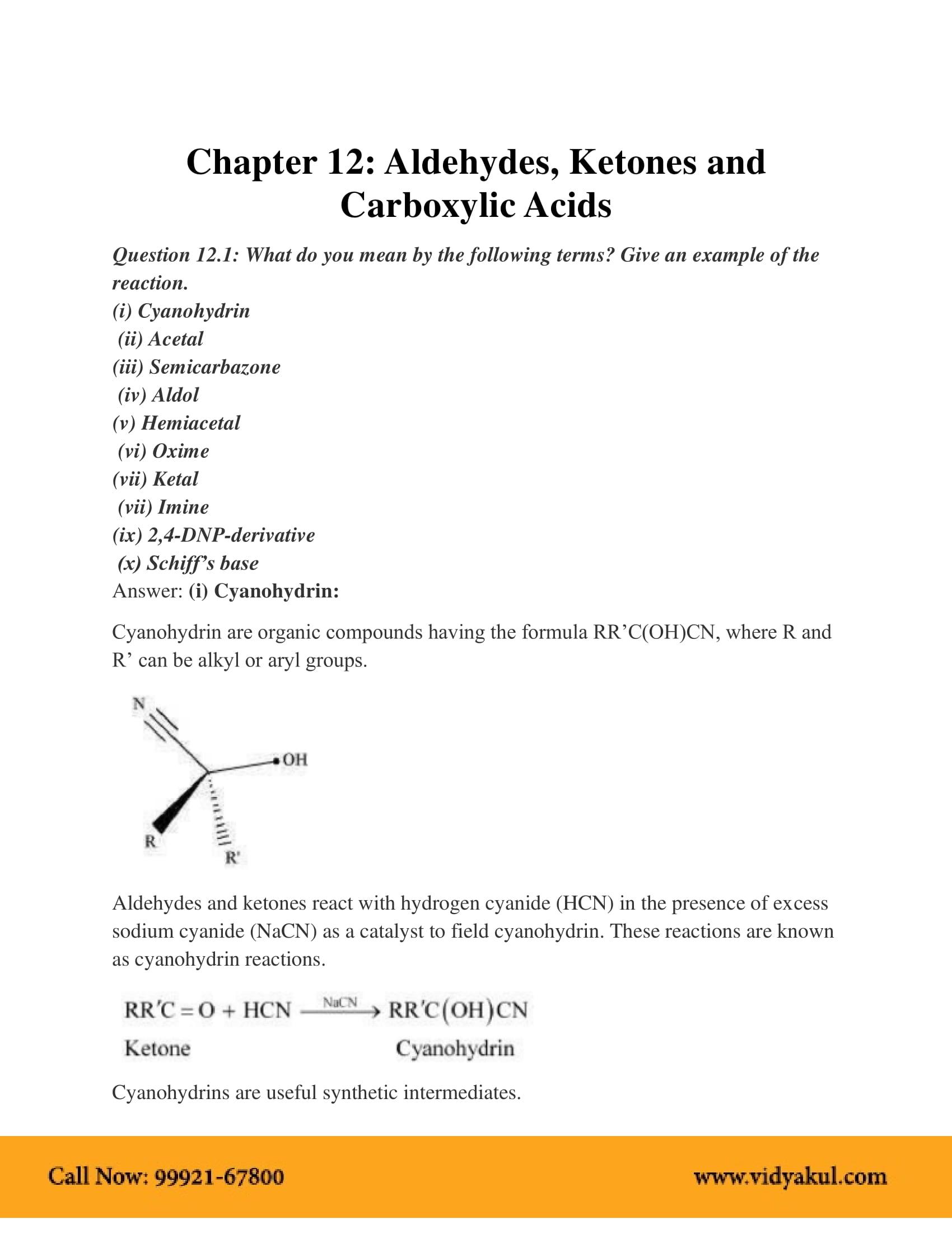 NCERT Solution Class 12 Chemistry Chapter 12   Vidyakul