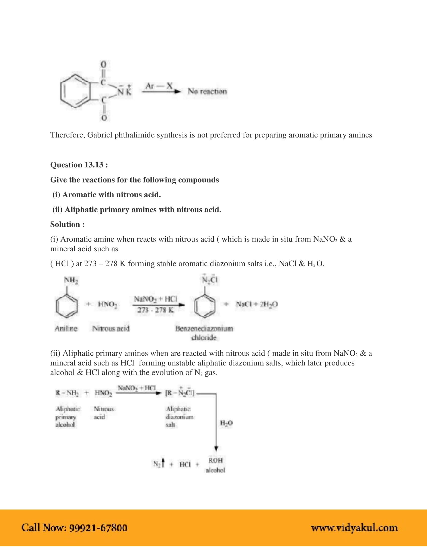 NCERT Solution Class 12 Chemistry Chapter 13 | Vidyakul