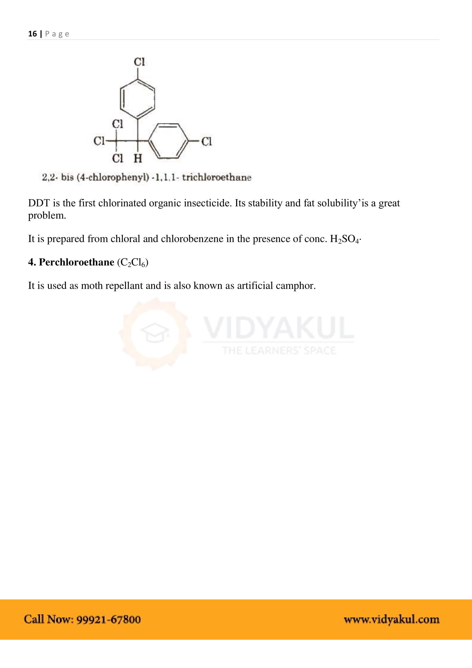 Haloalkanes and Haloarenes Class 12 Notes | Vidyakul