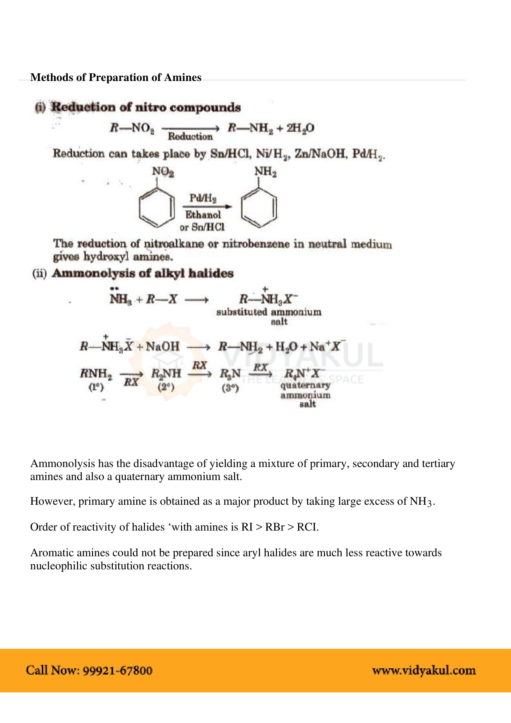 Organic Compounds Containing Nitrogen Class 12 Notes | Vidyakul
