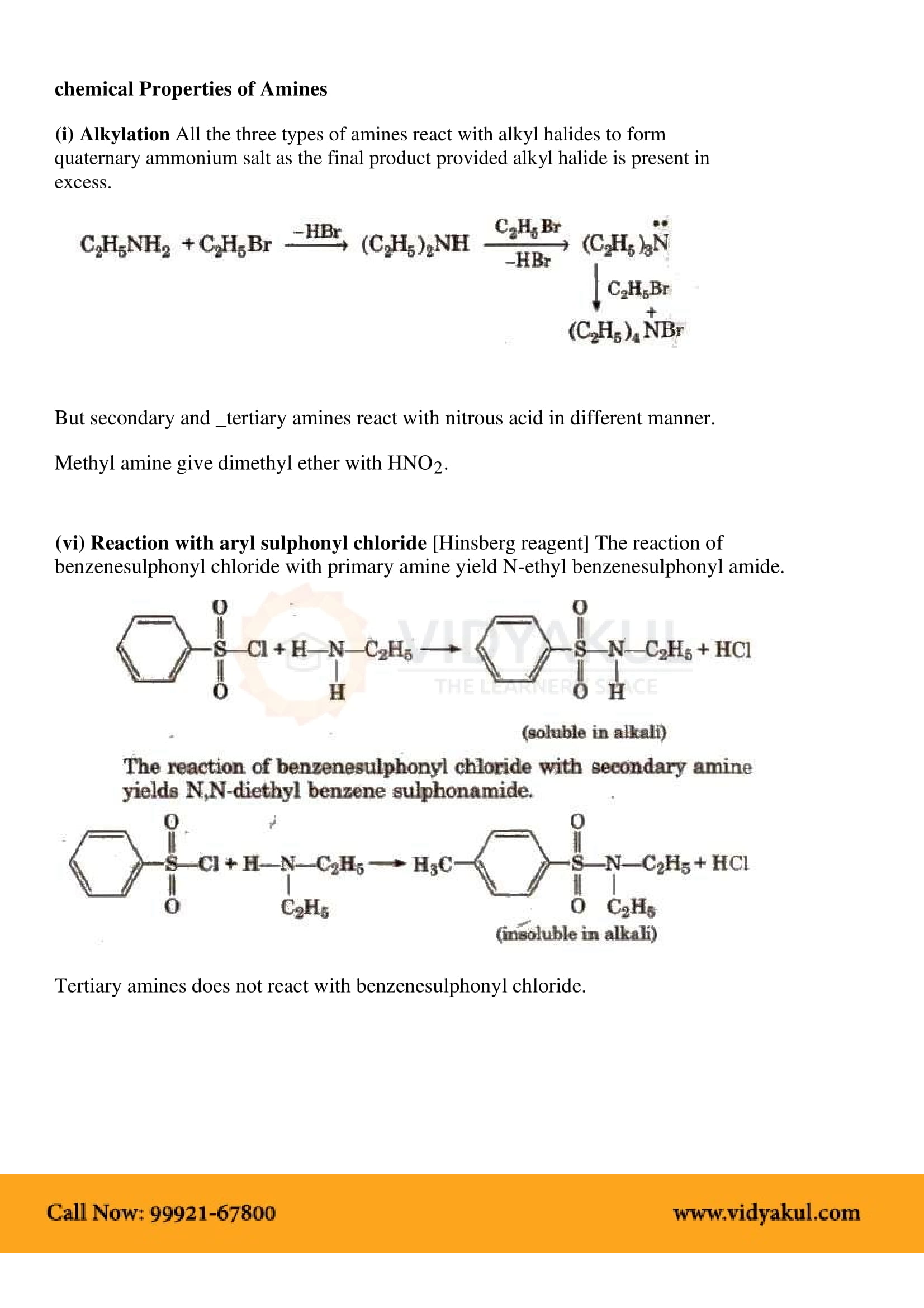 Organic Compounds Containing Nitrogen Class 12 Notes   Vidyakul