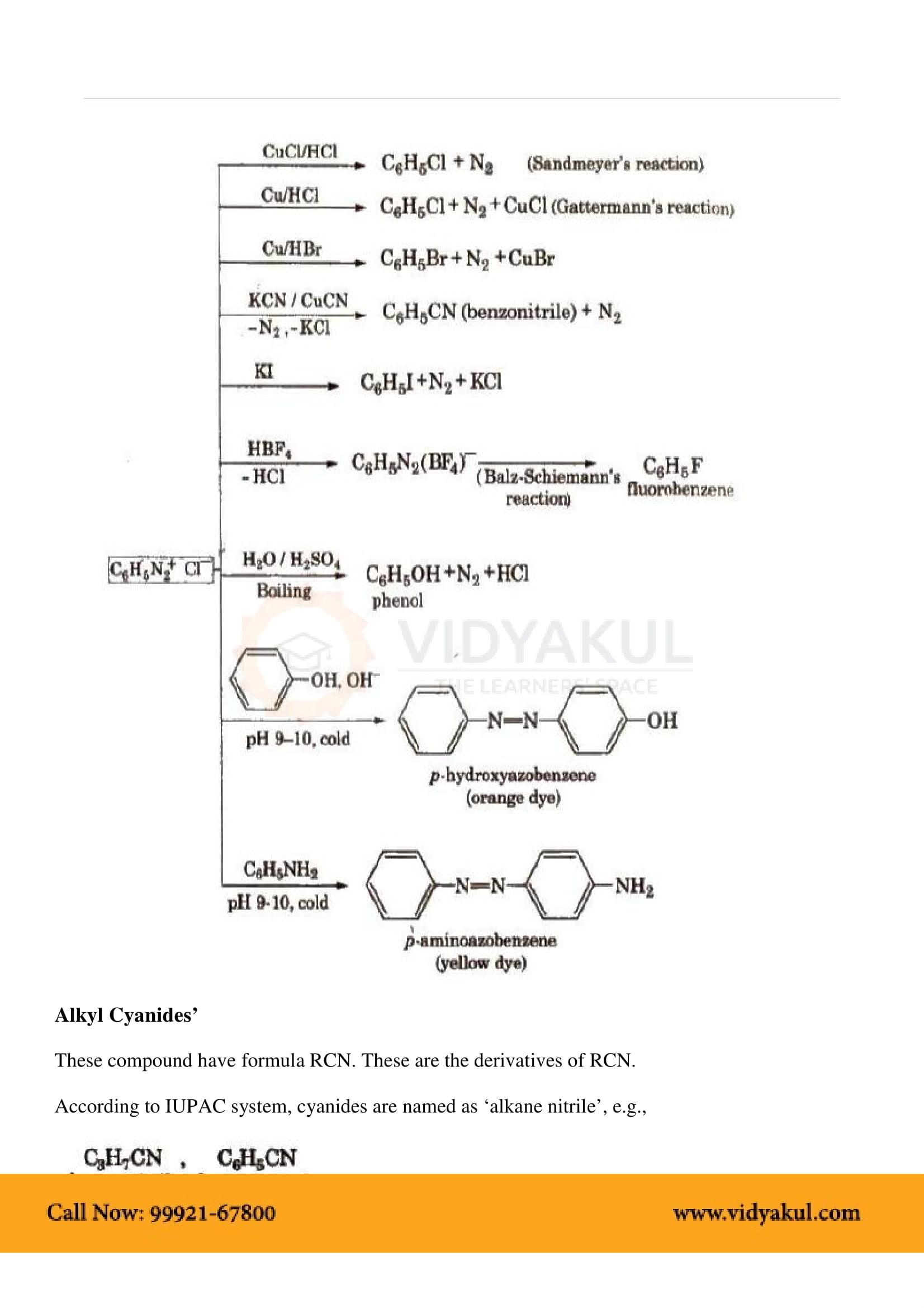 Organic Compounds Containing Nitrogen Class 12 Notes | Vidyakul