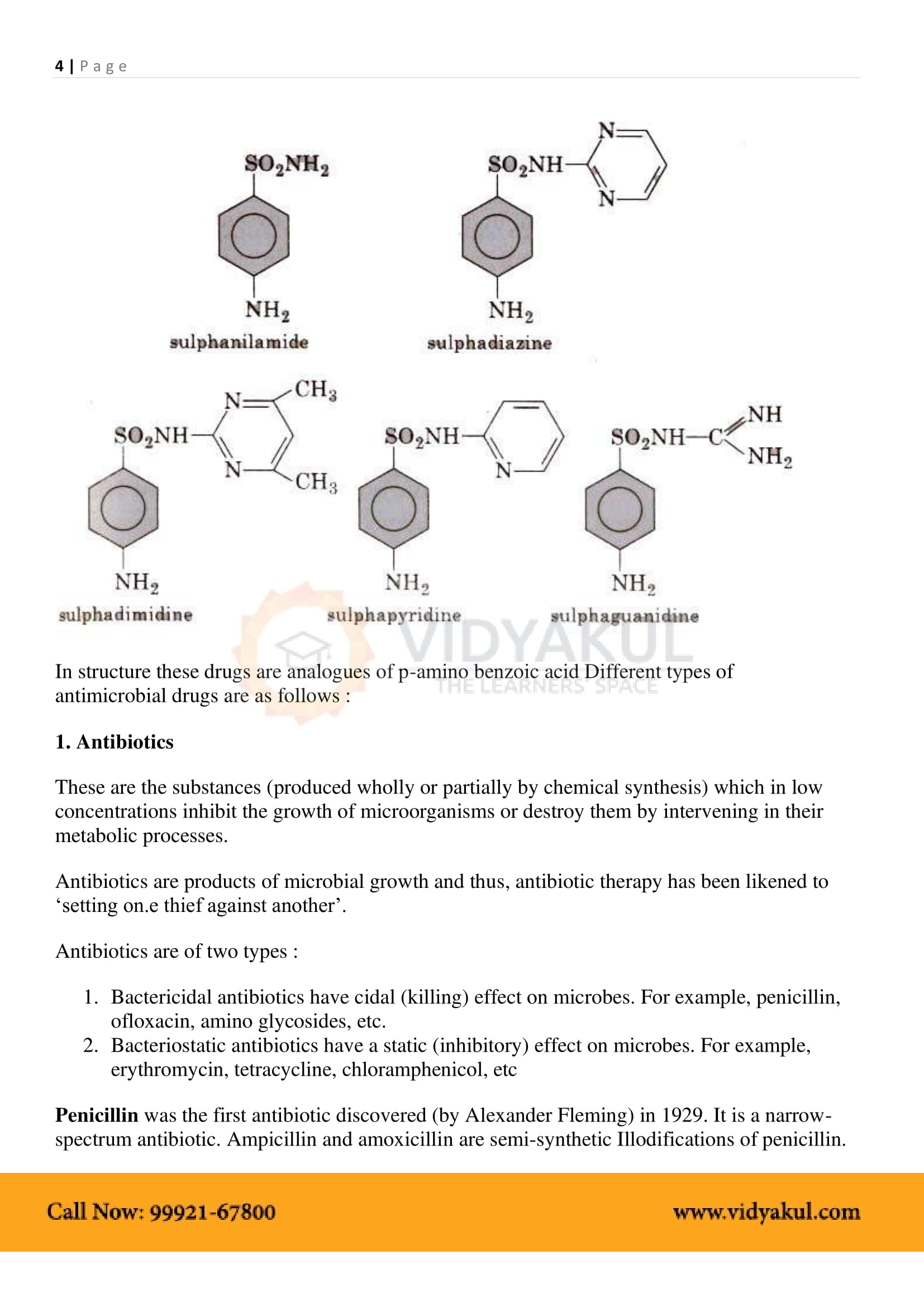 Chemistry in Everyday Life Class 12 Notes | Vidyakul
