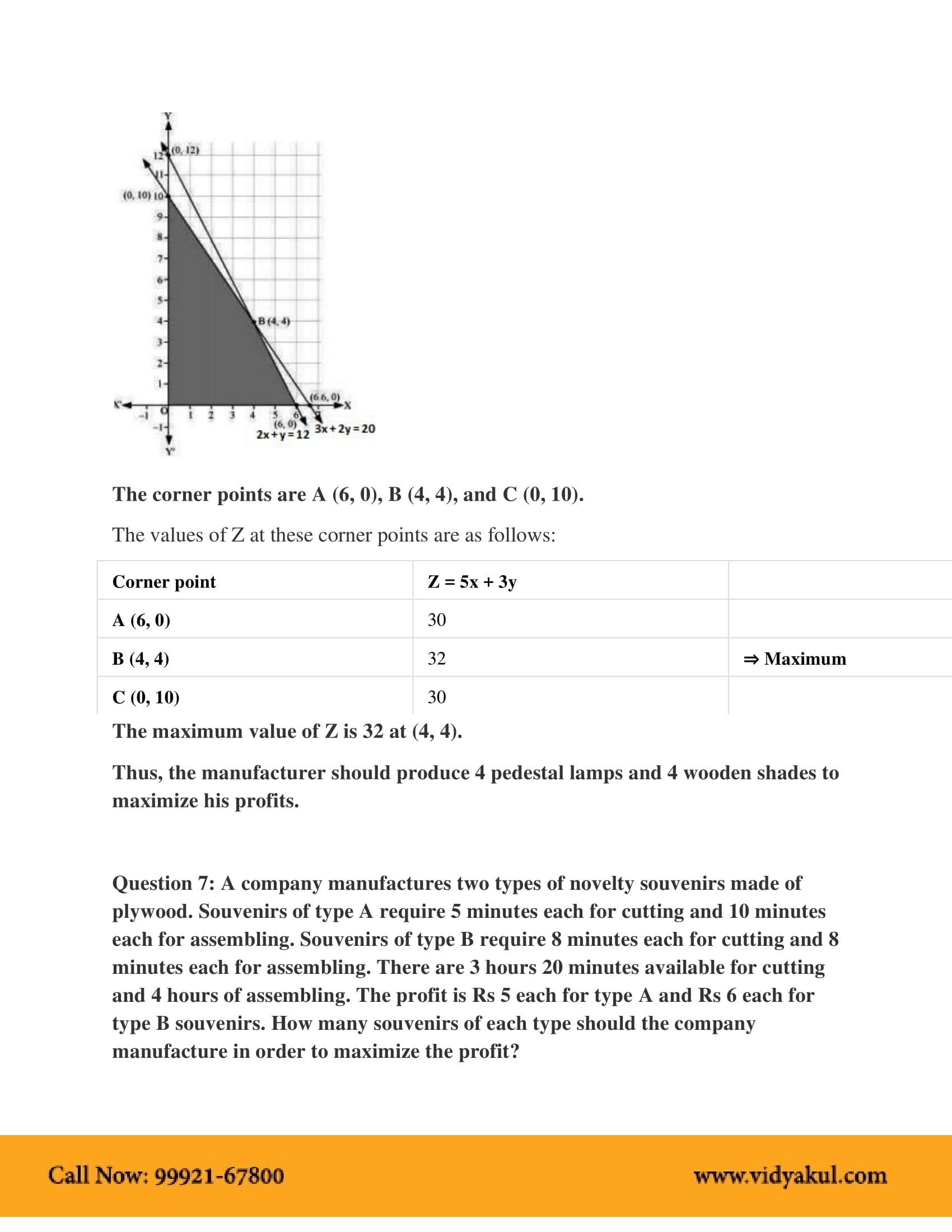 NCERT Solutions for Class 12 Maths Chapter 12 | Vidyakul