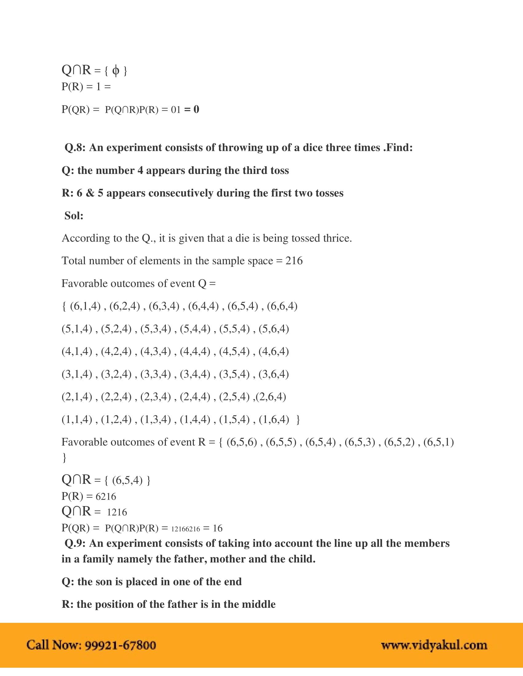 NCERT Solutions for Class 12 Maths Chapter 13 | Vidyakul