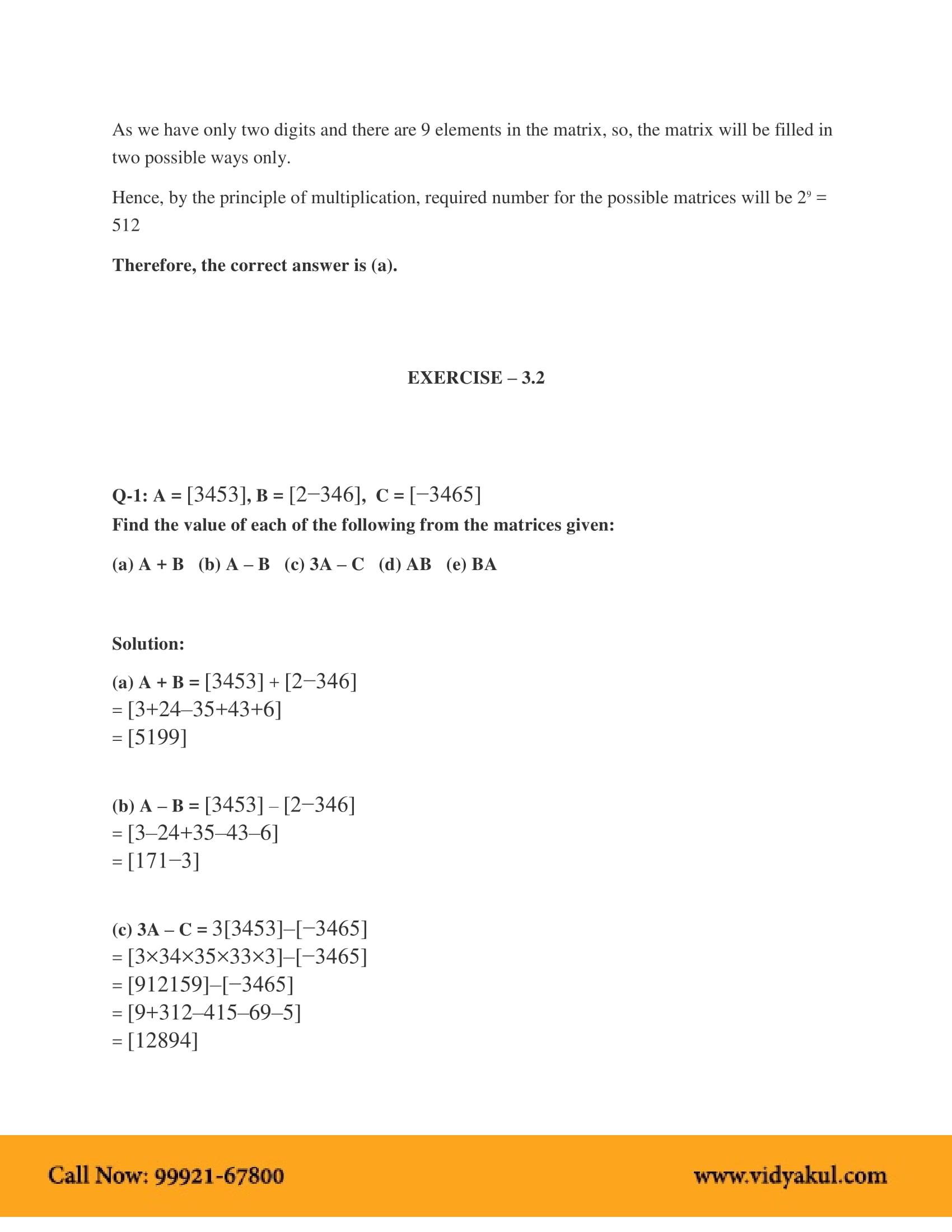 NCERT Solutions for Class 12 Maths Chapter 3   Vidyakul
