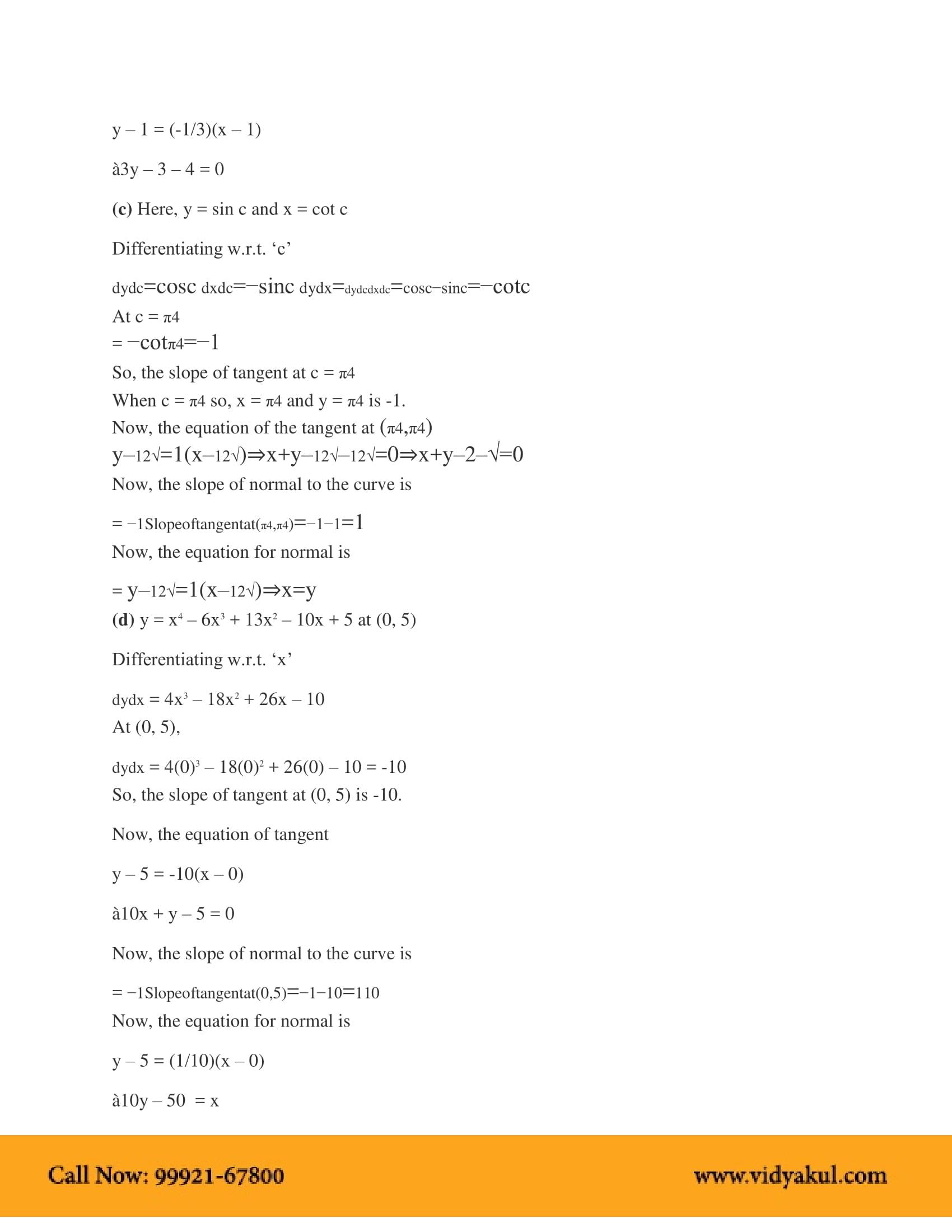 NCERT Solutions for Class 12 Maths Chapter 6 | Vidyakul