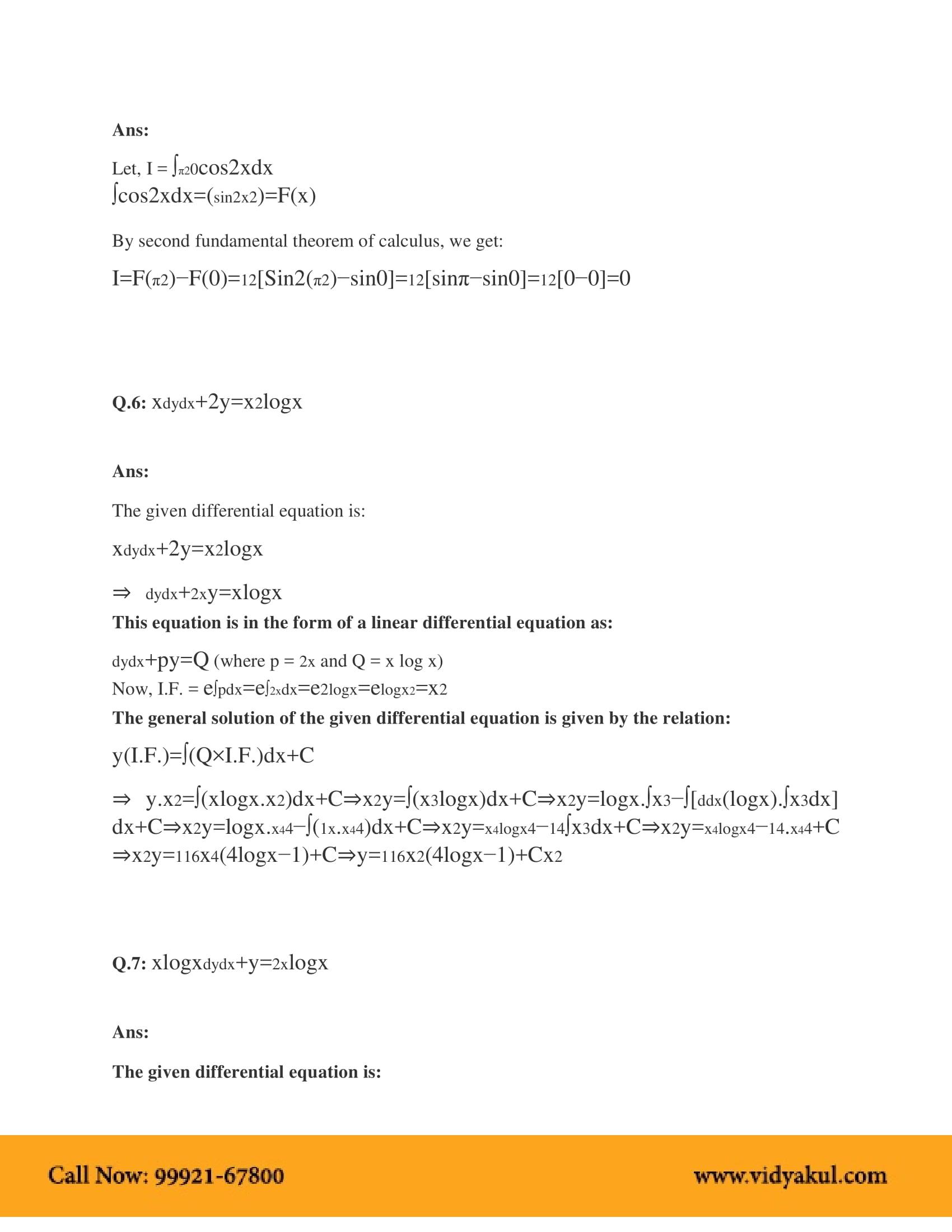 NCERT Solutions for Class 12 Maths Chapter 9 | Vidyakul