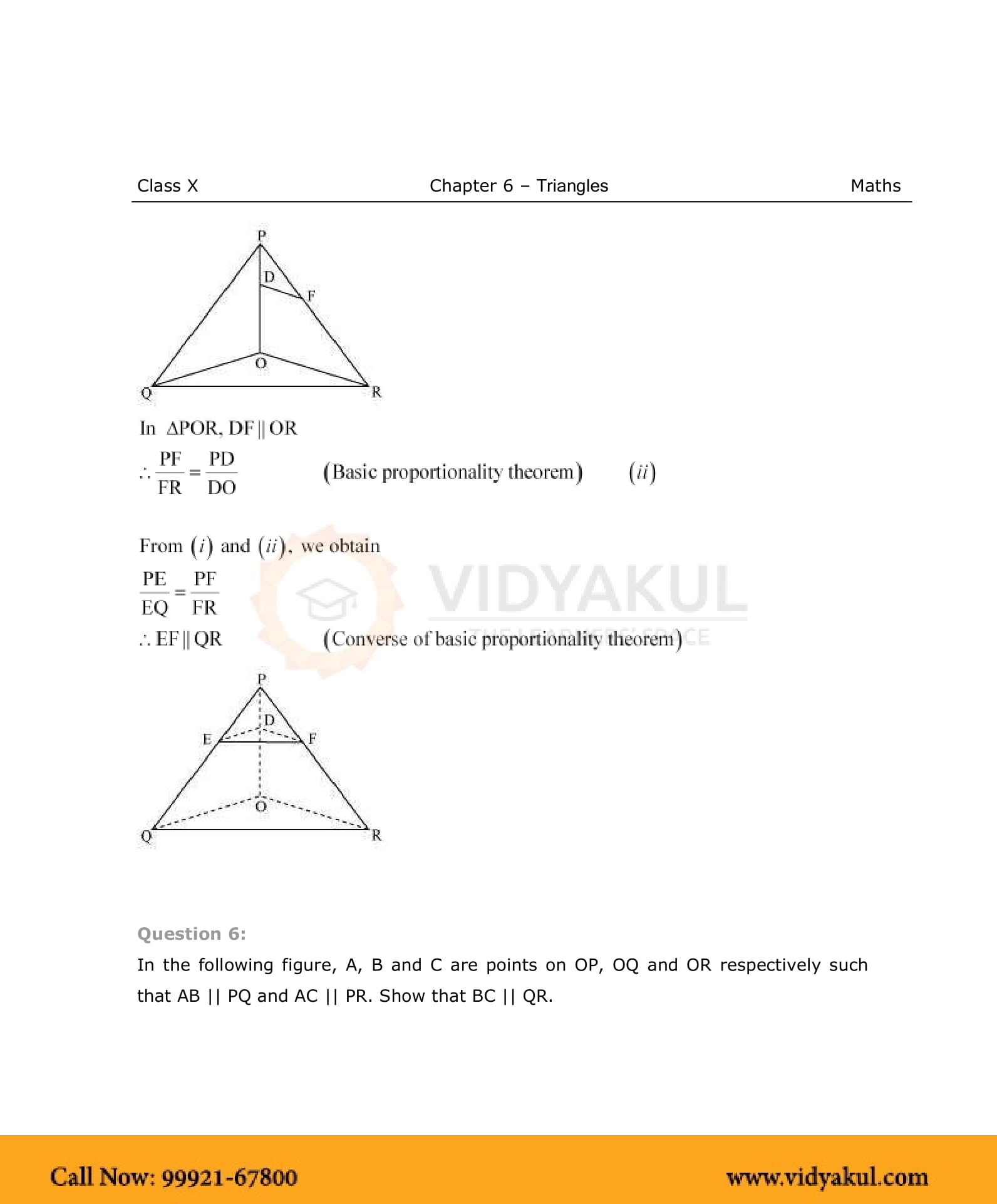 Triangles Class 10 Ncert Solutions Pdf