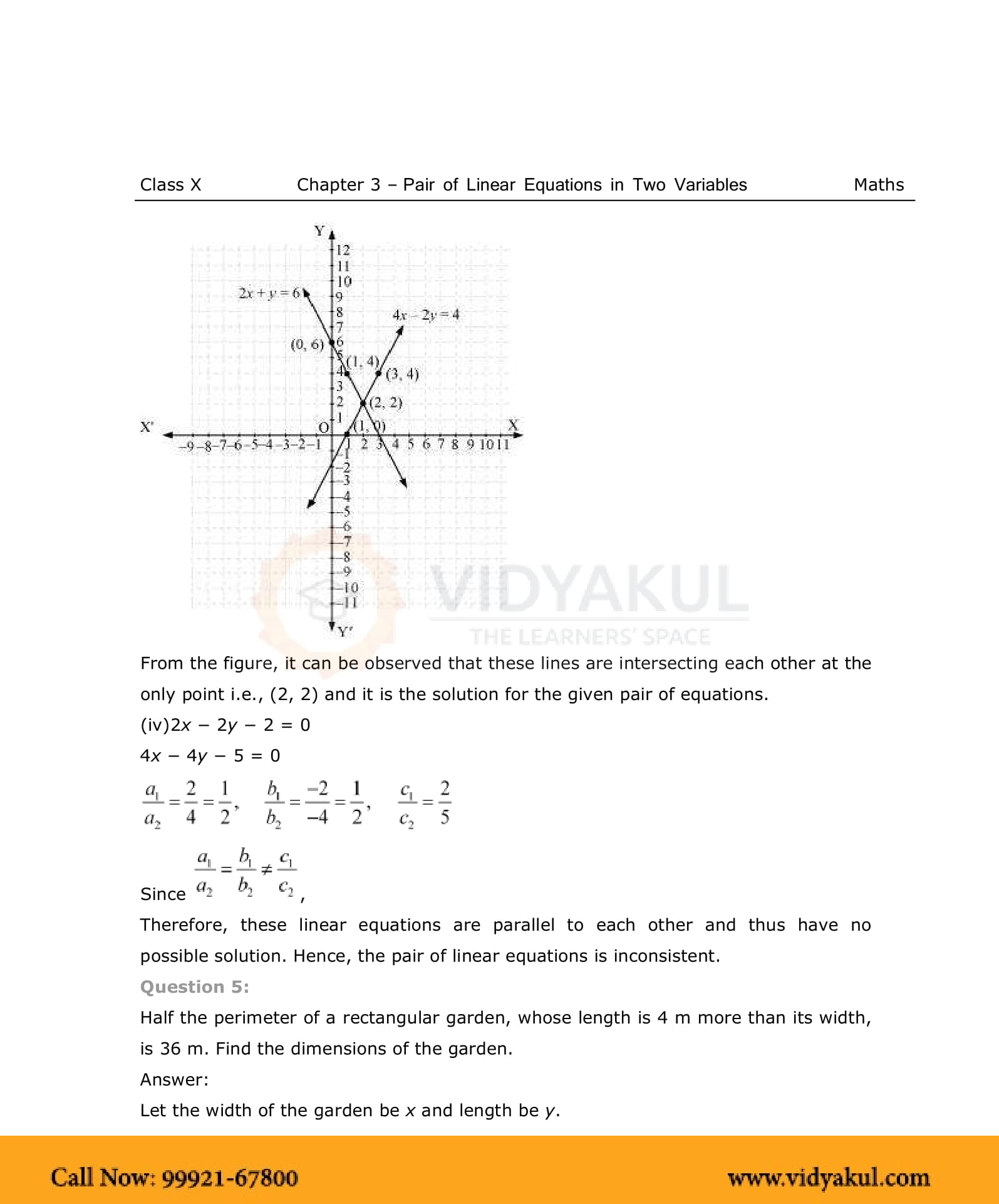NCERT Solutions For Class 10 Maths Chapter 3 | Vidyakul