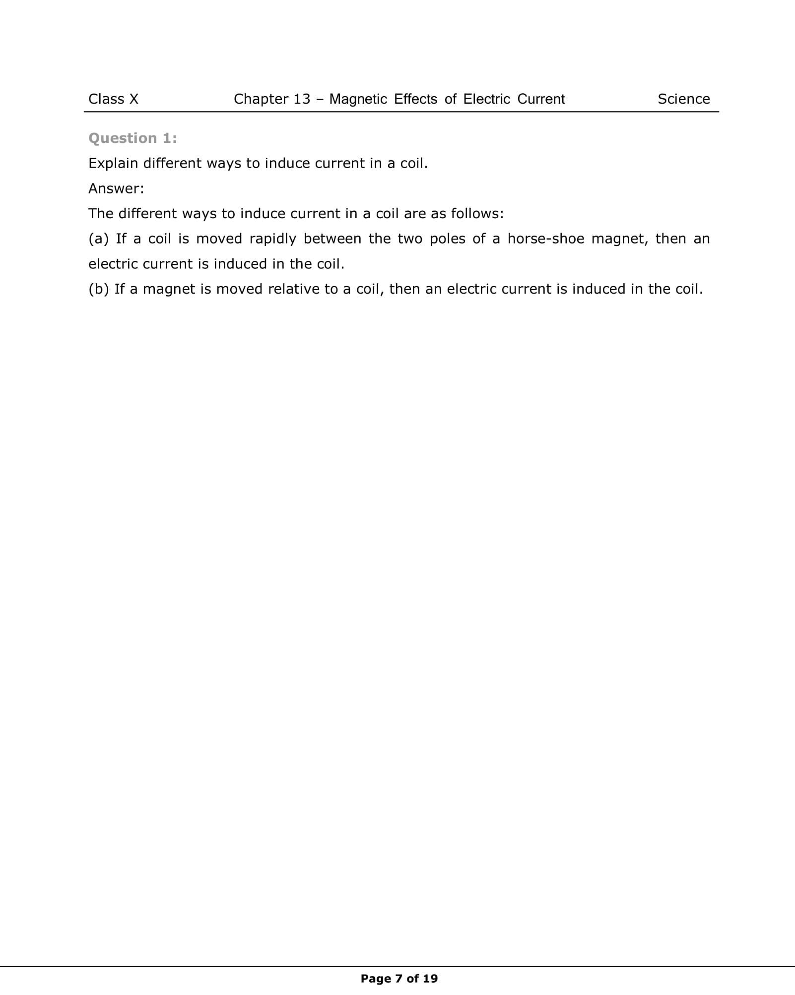 NCERT Solutions For Class 10 Science Chapter 13 | Vidyakul