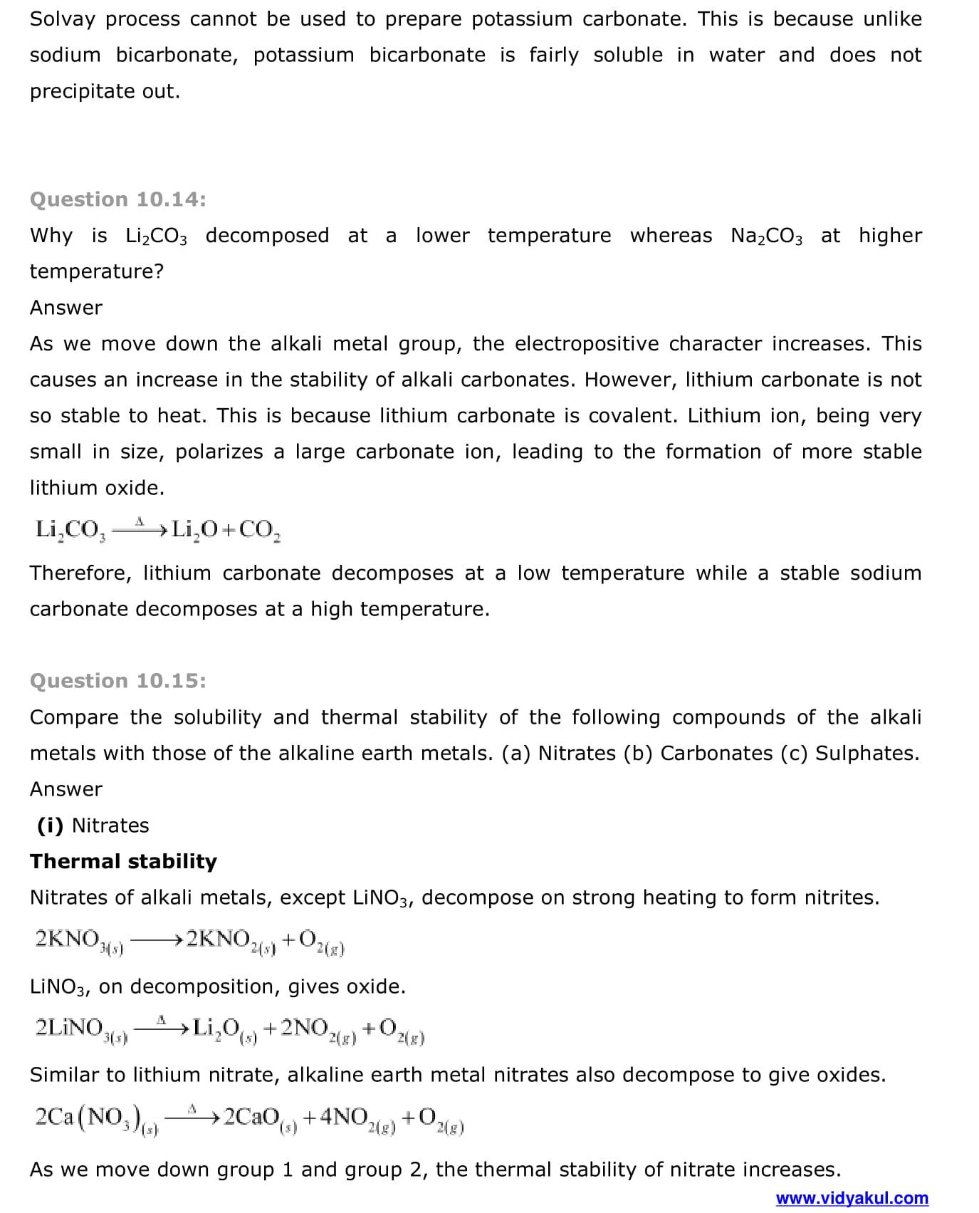 NCERT Solutions Class 11 Chemistry Chapter 10 | Vidyakul