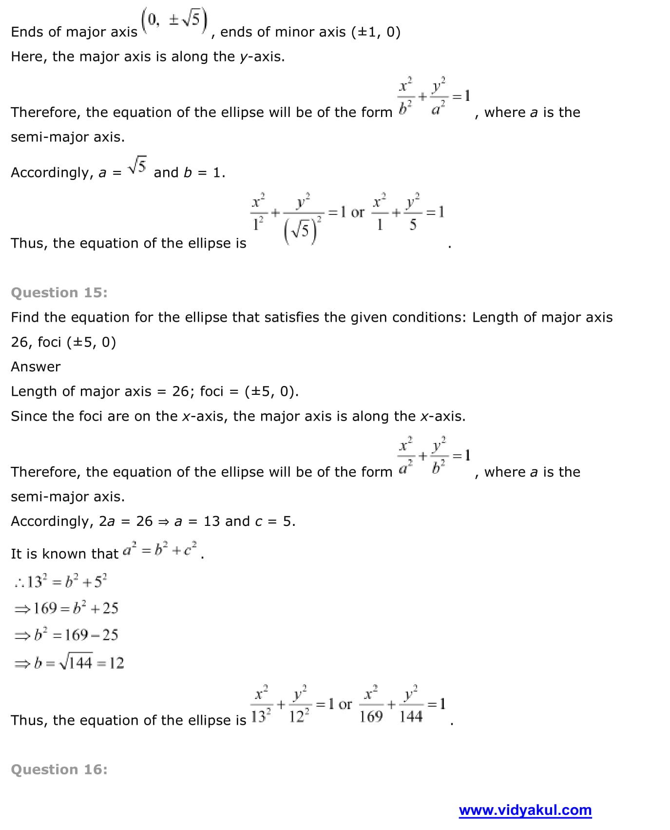 NCERT Solutions Class 11 Maths Chapter 11   Vidyakul