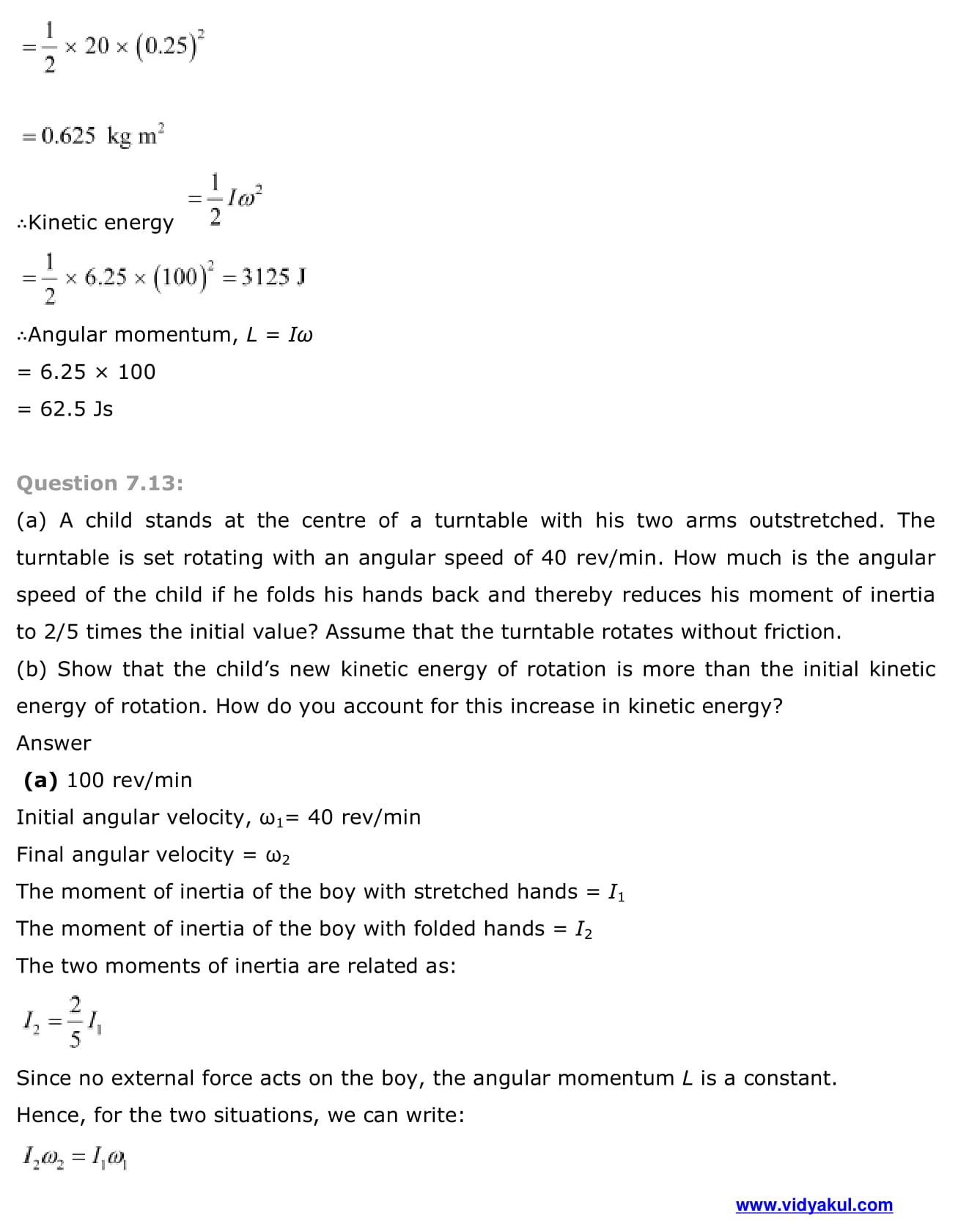 NCERT Solutions Class 11 Physics Chapter 7 | Vidyakul