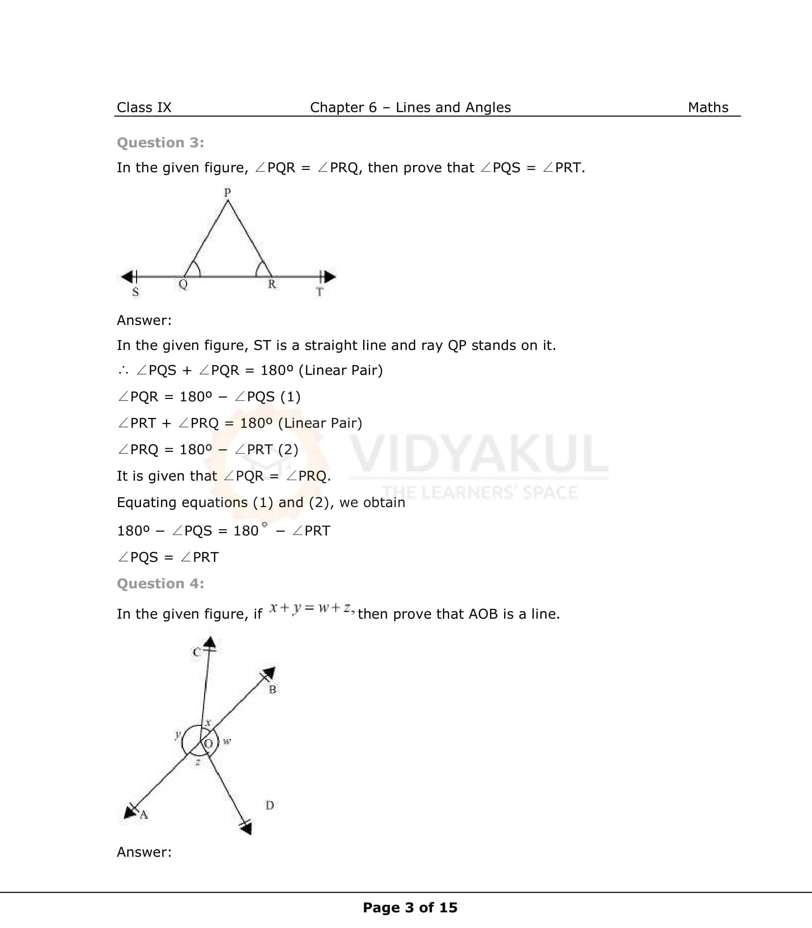 NCERT Solutions for Class 9 Maths Chapter 6 | Vidyakul