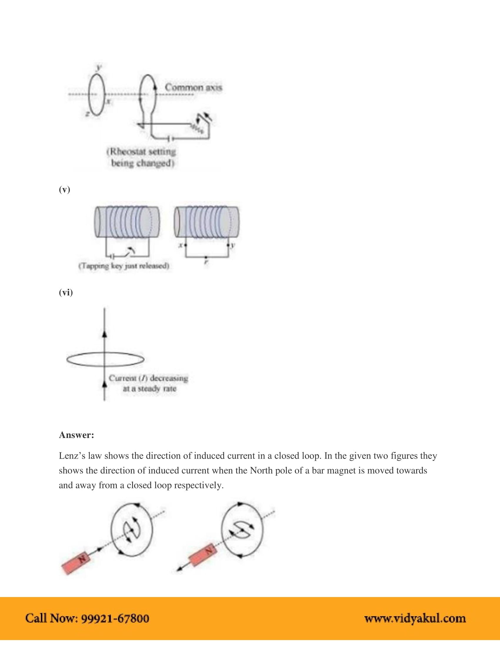 NCERT Solutions for Class 12 Physics Chapter 6 | Vidyakul