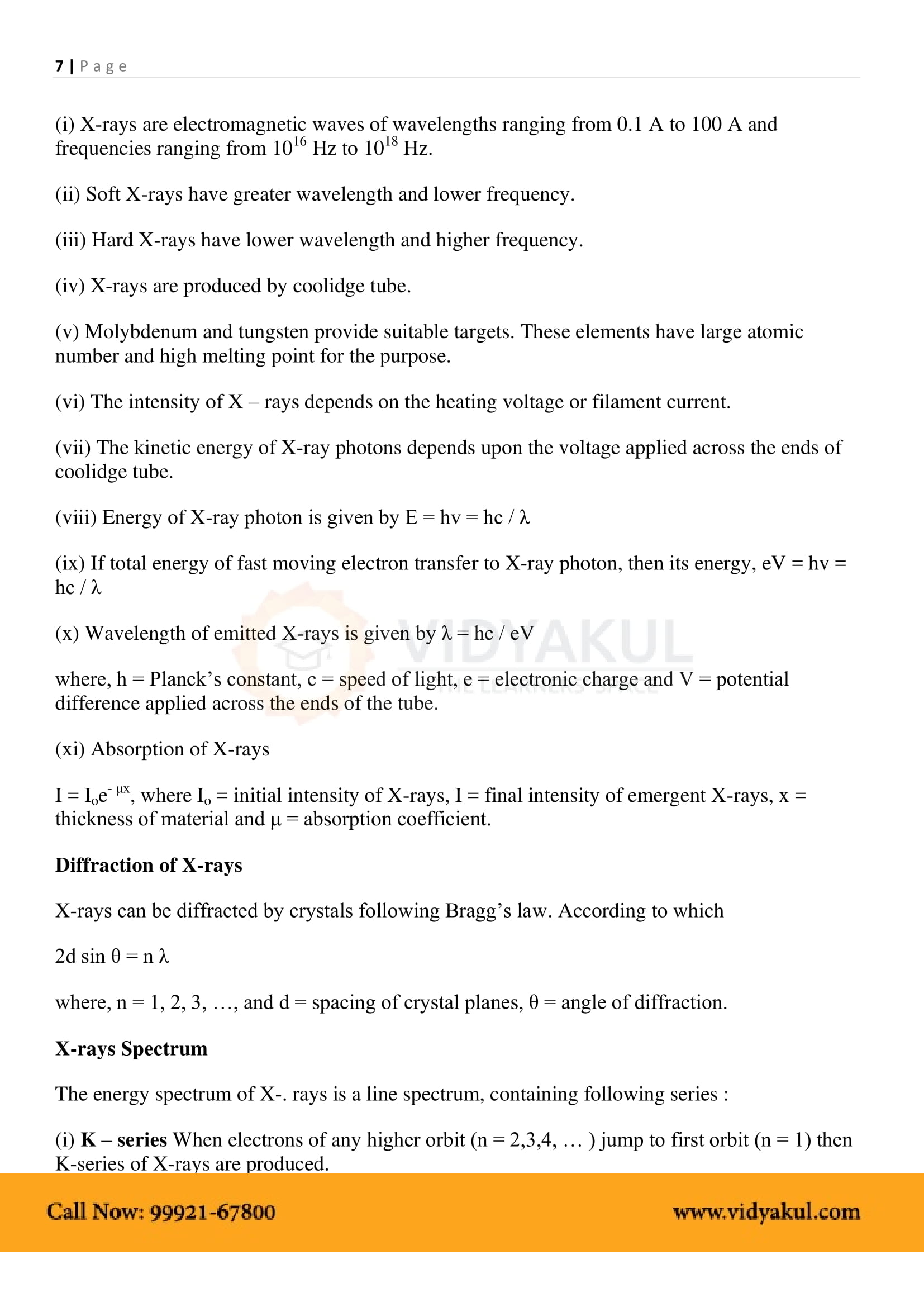 Dual Nature of Radiation and Matter Class 12 Notes | Vidyakul