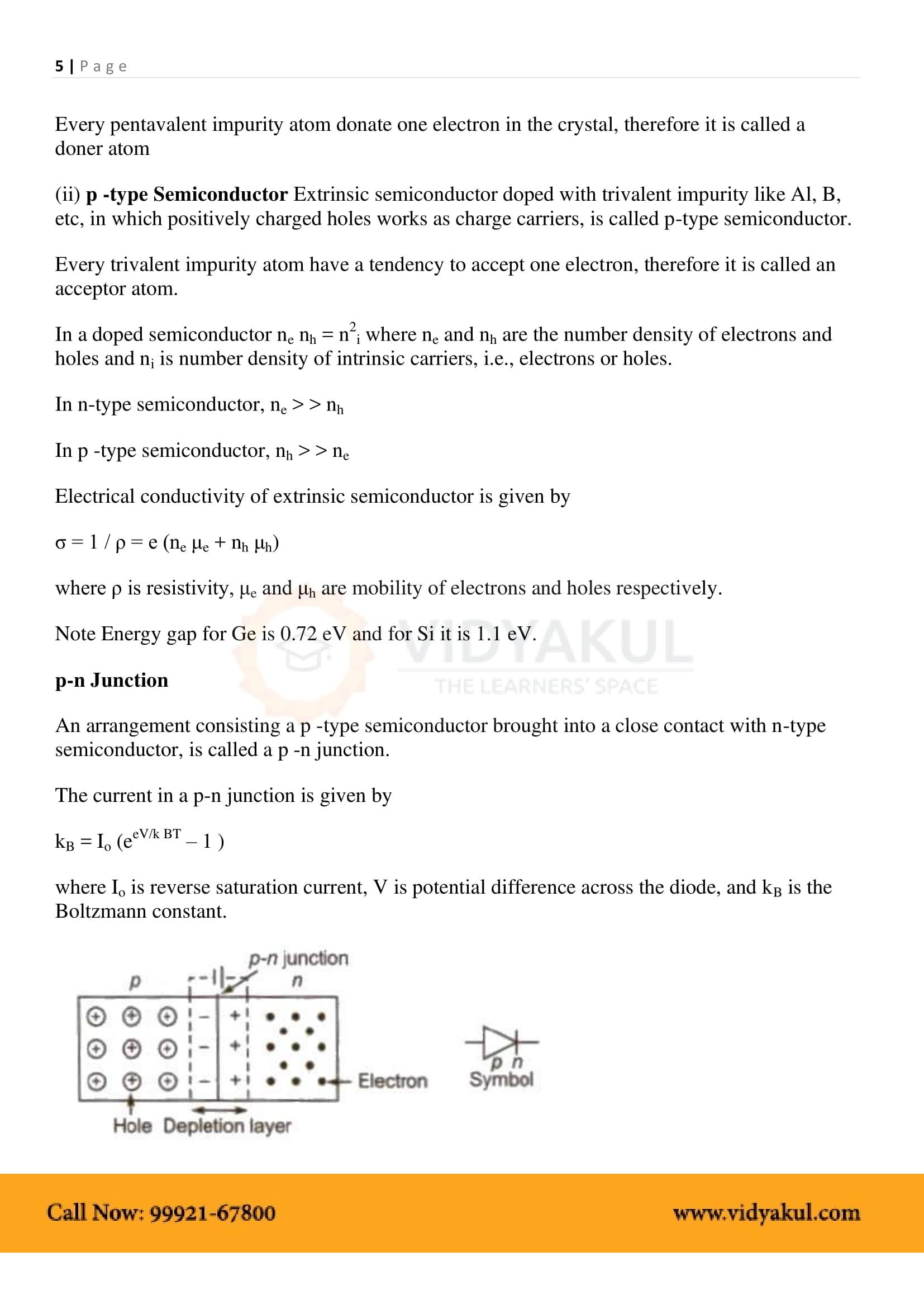 Semiconductor Electronics: Materials Class 12 Notes   Vidyakul