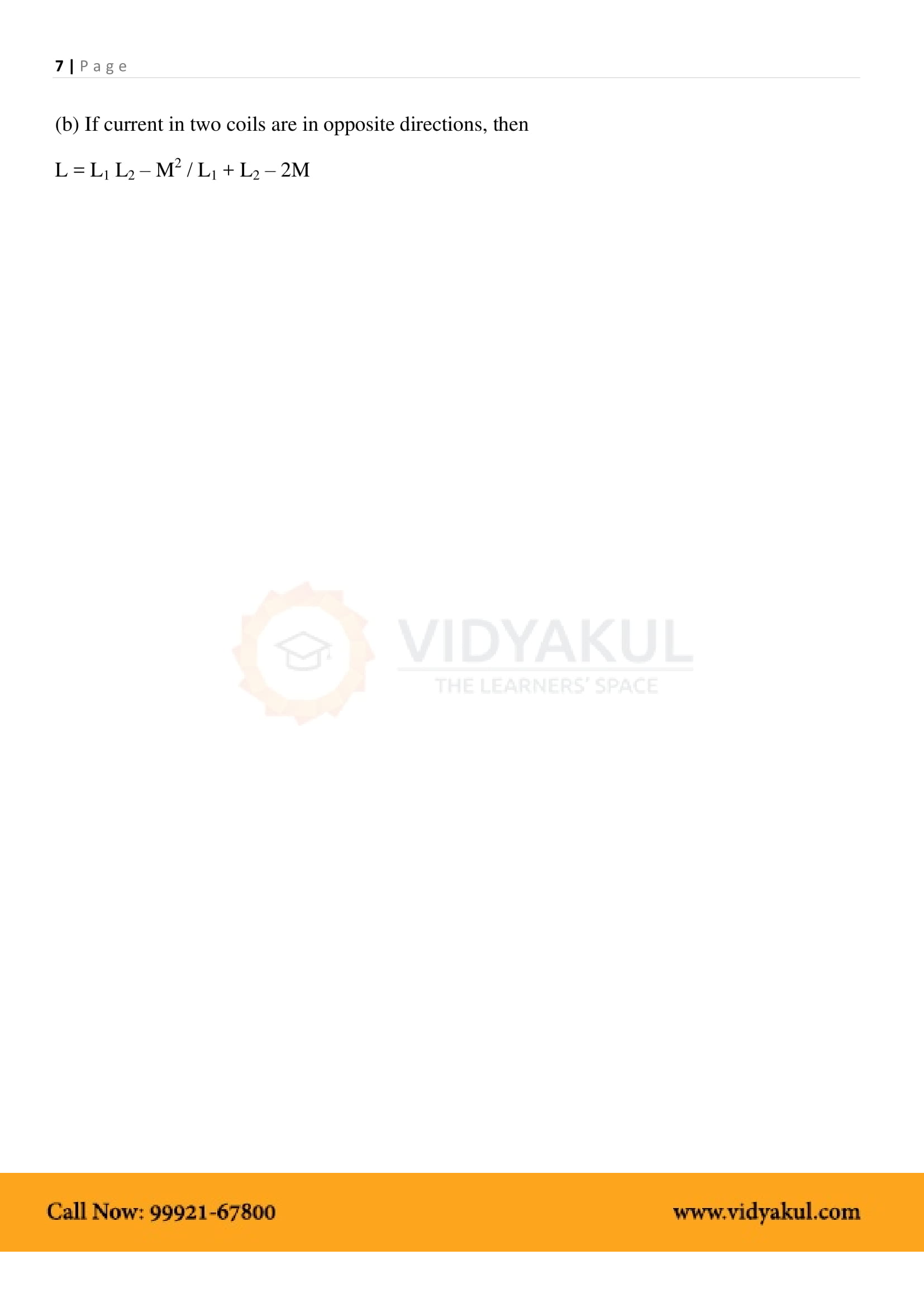 Electromagnetic Induction Class 12 Notes   Vidyakul