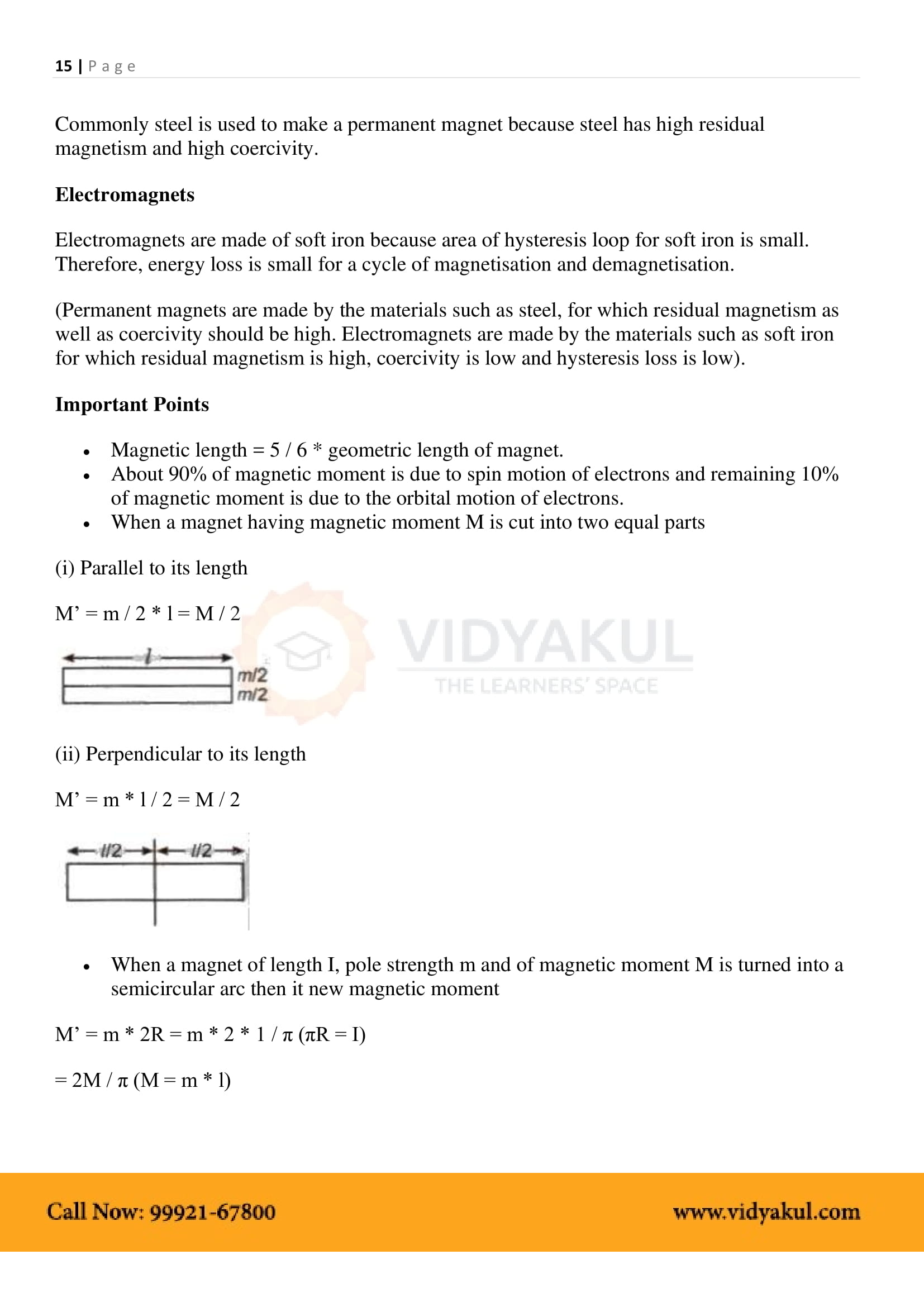 Magnetism and Matter Class 12 Notes | Vidyakul