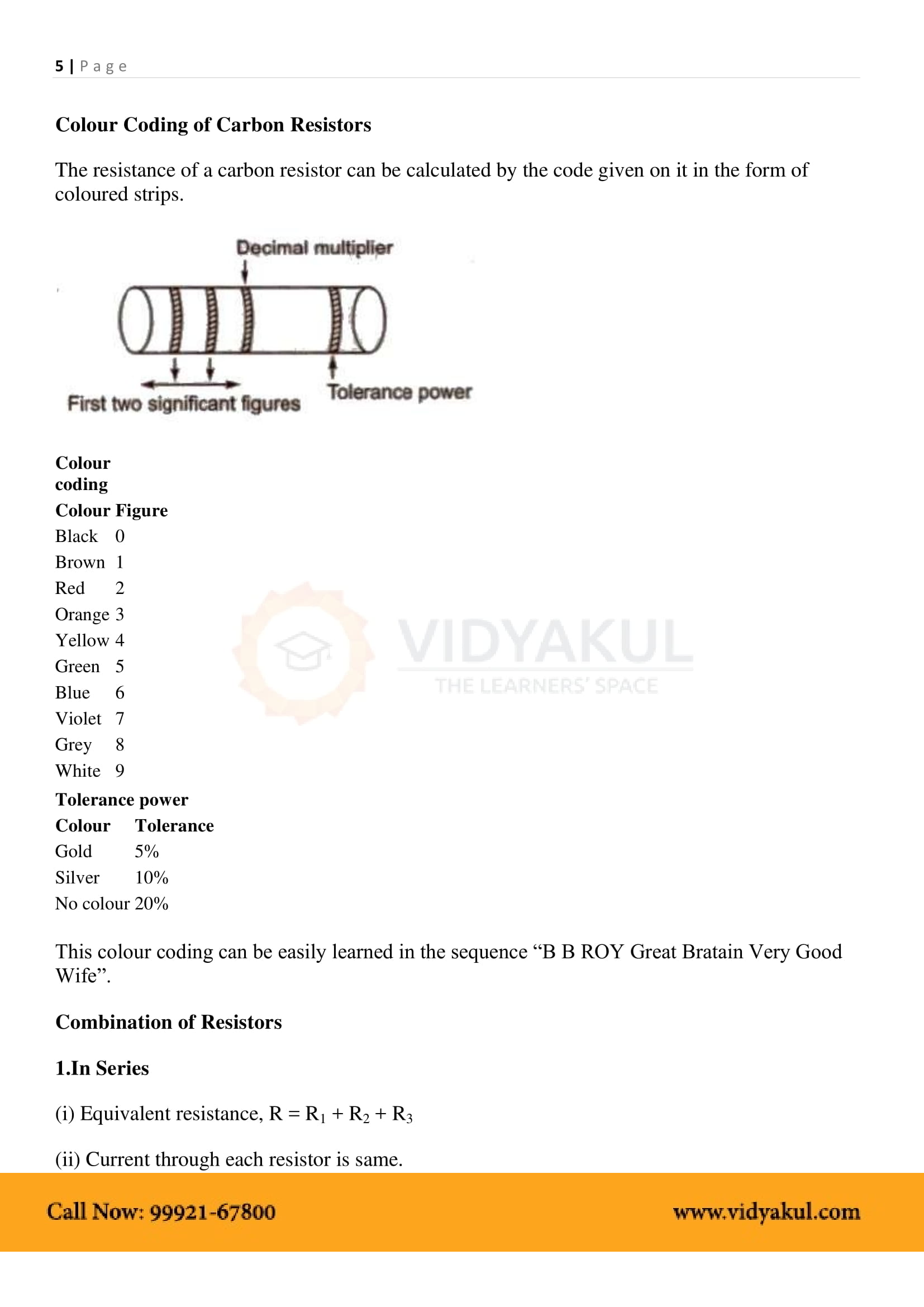 Current Electricity Class 12 Notes | Vidyakul