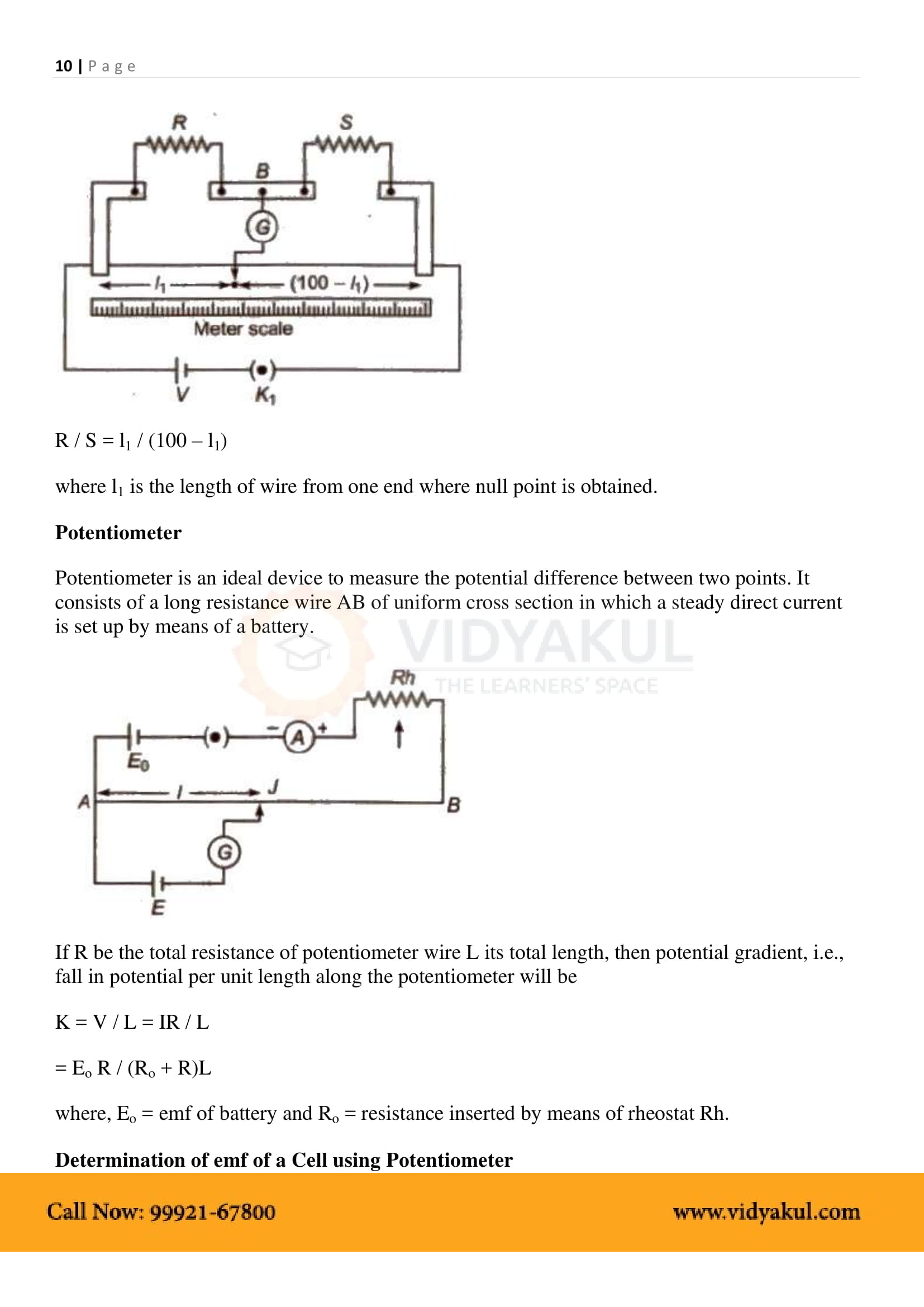 Current Electricity Class 12 Notes   Vidyakul