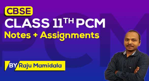 CBSE Class 11th PCM | Class Notes + Assignments