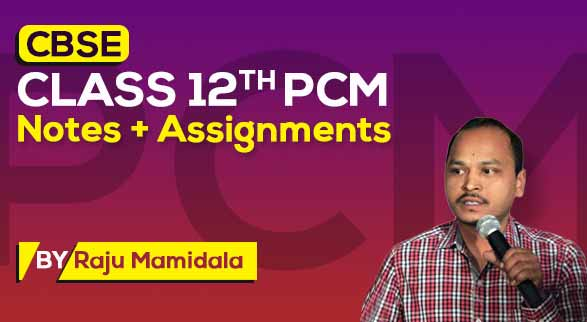 CBSE Class 12th PCM | Class Notes + Assignments